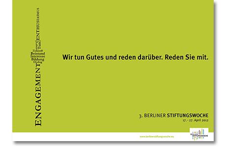Plakat Stiftungswoche